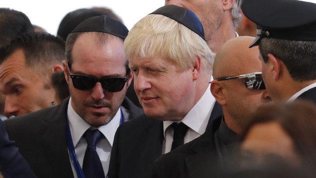 Auch der britische Außenminister Boris Johnson war unter den Trauergästen. (Bild: APA/AFP/THOMAS COEX)