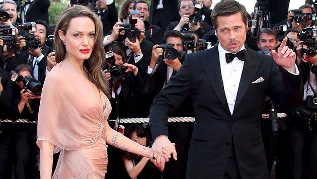 Angelina Jolie und Brad Pitt (Bild: EPA)