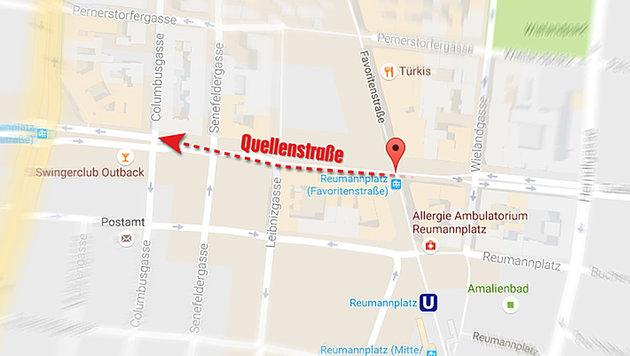 Wien: Wollte Amoklenker (21) Blutbad wie in Nizza? (Bild: Google Maps)