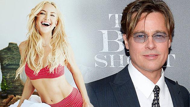 Kate Hudson will sich jetzt Brad Pitt angeln (Bild: instagram.com/katehudson, AP)