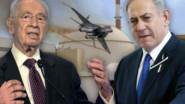 Peres hielt Netanyahu von Angriff auf Iran ab (Bild: thinkstockphotos.de, AFP/BEHROUZ MEHRI, AFP/THOMAS COEX, AFP)