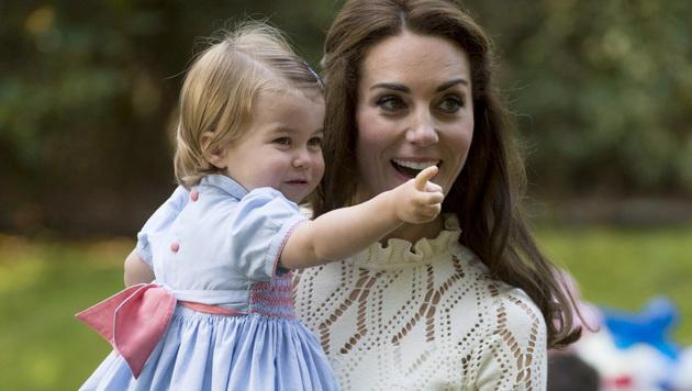 Prinzessin Charlotte entzückte alle mit ihrem ersten Wort. (Bild: AP)