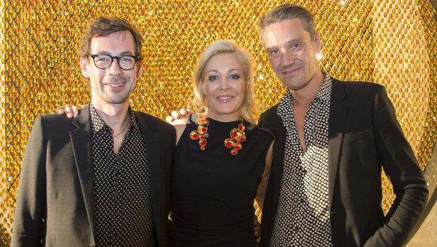 Ian Stallard, Nadja Swarovski, Patrik Fredrikson (Bild: Swarovski / Juergen Hammerschmid)