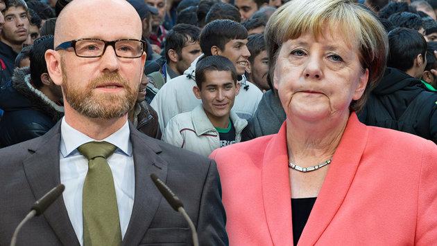 """""""Wer nicht für Merkel ist, ist ein A****loch"""" (Bild: APA, AFP/JOHN MACDOUGALL, dpa/GREGOR FISCHER)"""
