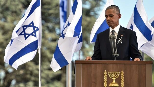 Jerusalem: Die Welt nahm Abschied von Shimon Peres (Bild: APA/AFP/NICHOLAS KAMM)