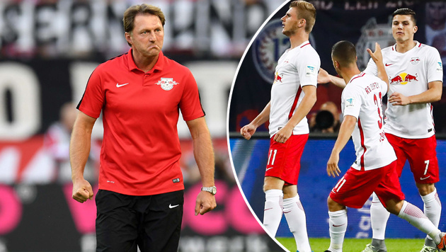"""RB Leipzig ist geil!"" - Wiese verteidigt ""Bullen"" (Bild: APA/AFP/ODD ANDERSEN, APA/AFP/PATRIK STOLLARZ)"