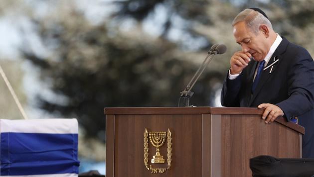 Jerusalem: Die Welt nahm Abschied von Shimon Peres (Bild: APA/AFP/THOMAS COEX)
