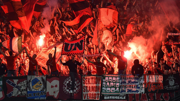 Fans von Eintracht Frankfurt bei einem Bundesliga-Spiel gegen Nürnberg (Bild: GEPA)