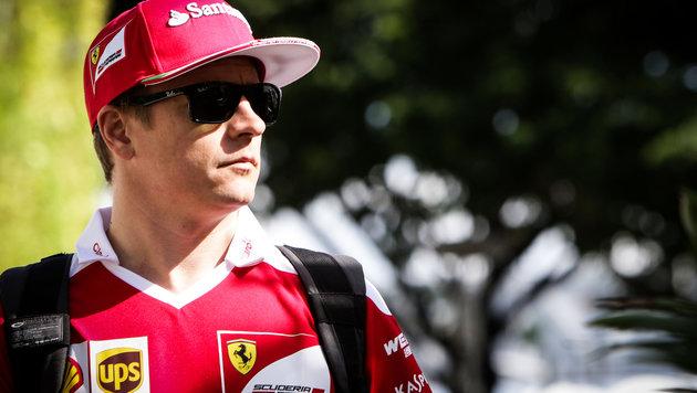 Ferrari vergisst Lampe in Wagen von Räikkönen (Bild: GEPA)