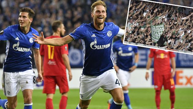 Kurios: Schalke lud Rapidler zu Salzburg-Spiel ein (Bild: AP, APA/HANS PUNZ)