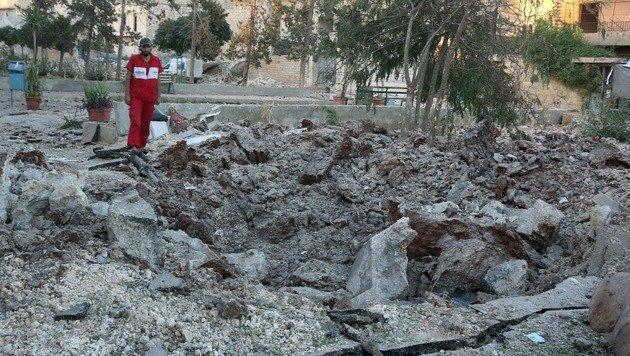 Syrien: Erneut Krankenhaus in Aleppo bombardiert (Bild: AFP)