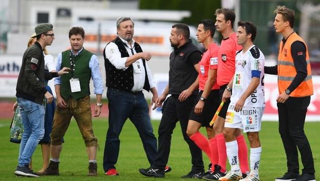 WAC-Präsident Riegler wütet gegen Schiedsrichter (Bild: F. Pessentheiner, pessentheiner)