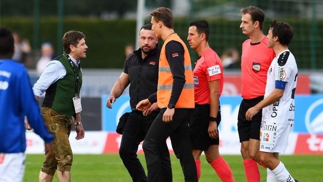 WAC-Präsident Riegler wütet gegen Schiedsrichter (Bild: Winfried Pessentheiner)