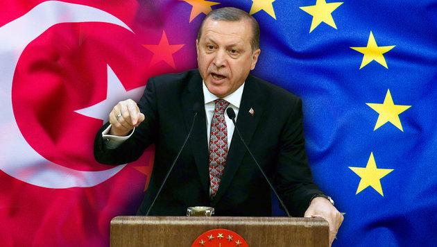 Erdogan hetzt derzeit gerne gegen die EU. (Bild: AFP/ADEM ATLAN, thinkstockphotos.de)