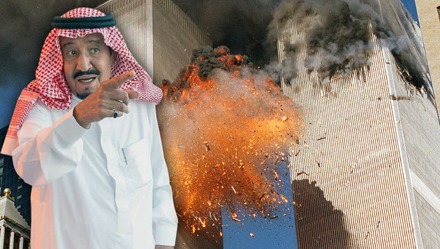 Saudi-König Salman bin Abdulaziz (li.): Droht seinem Wüstenstaat nun eine Flut an Klagen? (Bild: AP, APA/AFP/Saudi Royal Palace/BANDAR AL-JALOUD)