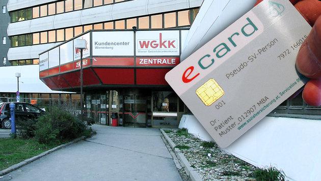 """Das gibt""""s nur in Wien: E-Card für Asylwerber (Bild: APA/HARALD SCHNEIDER, WGKK)"""