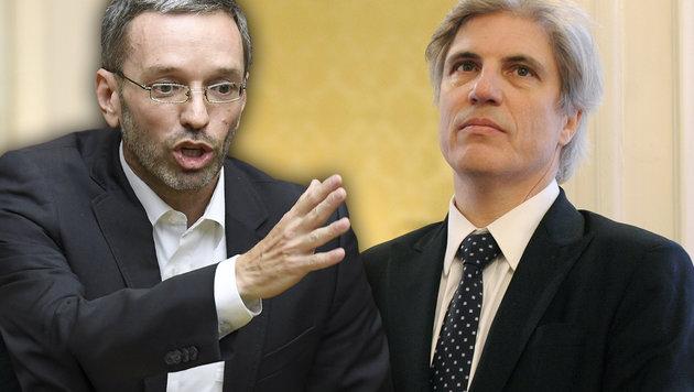 FPÖ-Generalsekretär Kickl fordert weiterhin eine Unterlassungserklärung von VfGH-Richter Schnizer. (Bild: APA/ROLAND SCHLAGER, APA/ROBERT JAEGER)