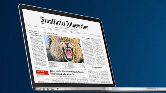 """""""Frankfurter Allgemeine Zeitung"""" führt Paywall ein (Bild: FAZ)"""