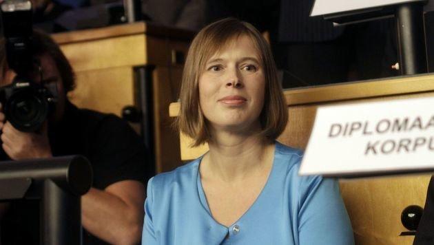 Estlands erste Staatschefin Kersti Kaljulaid (Bild: APA/AFP/RAIGO PAJULA)