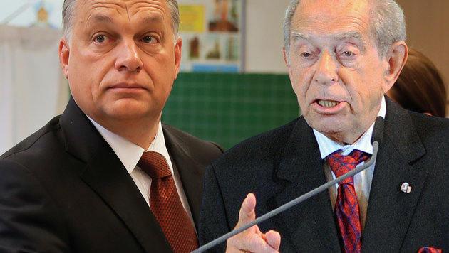 "Ungarn-Experte Lendvai (rechts) sieht Regierungschef Orban ""nicht gefährdet"". (Bild: AP/Vadim Ghirda, ROBERT JAEGER)"