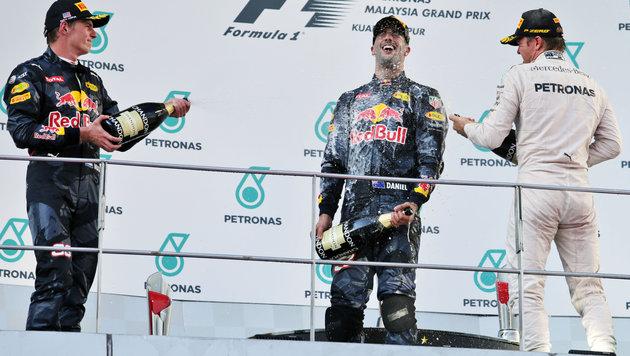 Malaysia: Hamilton-Drama bei Erfolg von Ricciardo (Bild: GEPA)