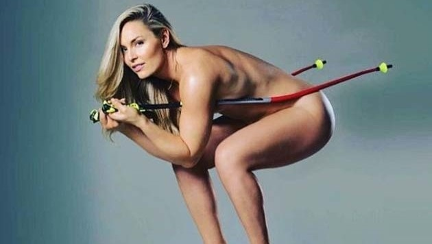 Um ihr neues Buch zu promoten ließ Ski-Star Lindsey Vonn auf Instagram die Hüllen fallen. (Bild: instagram.com/Lindsey Vonn)