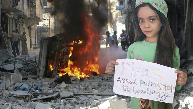 Bana twitterte aus der Kriegshölle von Aleppo. (Bild: Twitter.com/AlabedBana, AP)