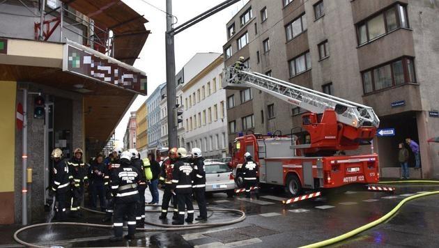 Feuerwehreinsatz in der Davidgasse in Favoriten (Bild: MA 68/Lichtbildstelle)