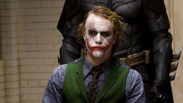 Heath Ledger in seiner Paraderolle als Joker (Bild: APA/WARNER BROS)