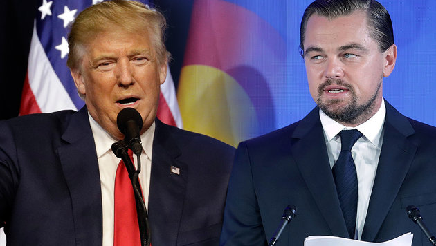 Leonardo DiCaprio: Ohrfeige für Donald Trump (Bild: APA/AFP/GETTY IMAGES/CHIP SOMODEVILLA, AP)