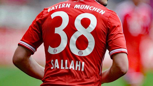 Ja, auch den Bayern-Dress hat Ylli Sallahi schon in einem Pflichtspiel getragen. (Bild: GEPA)