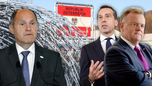 Wenn es nach Niessl und Sobotka geht, soll die Verordnung bald kommen. Kern möchte abwarten. (Bild: Jürgen Radspieler, APA)