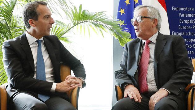 CETA-Gespräch zwischen Kern und Juncker (Bild: APA/BKA/ANDY WENZEL)
