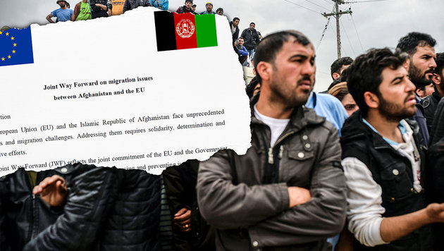 EU-Geheimvertrag mit Afghanistan veröffentlicht (Bild: Delegation of the EU to Afghanistan, APA/AFP/BULENT KILIC)