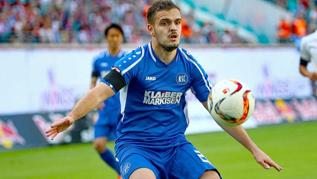 Sallahi im Einsatz für den Karlsruher SC (Bild: GEPA)