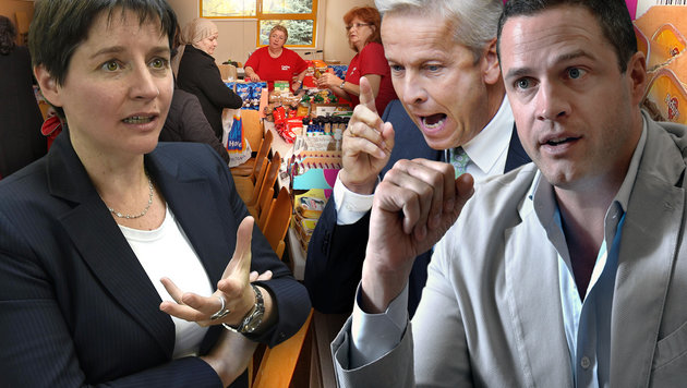 Mindestsicherung: Harte Attacken gegen Rot-Grün! (Bild: APA/FOHRINGER, APA/TECHT,APA/PFARRHOFER, Peter Tomschi)