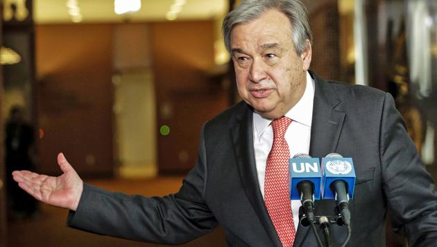 Portugiese Guterres als UNO-Chef nominiert (Bild: APA/AFP/KENA BETANCUR)