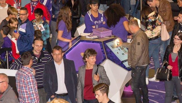 """""""Viola Point"""" eröffnet: Fanandrang bei der Austria (Bild: FK Austria Wien)"""