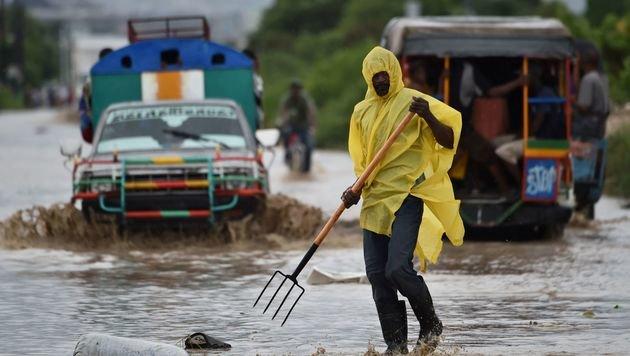 "Hurrikan ""Matthew"" traf Haiti mit voller Wucht (Bild: APA/AFP/HECTOR RETAMAL)"