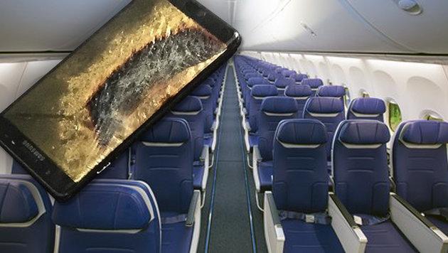 Samsung Note 7 nun auch auf AUA-Flügen verboten (Bild: twitter.com, Southwest)