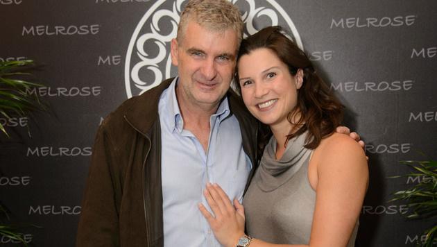 Artur Worseg mit seiner Ehefrau Kristina (Bild: Viennareport)