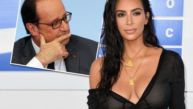 Hollande kümmert sich nun persönlich um Kardashian (Bild: APA/EPA/PHILIPPE WOJAZER, APA/AFP/Angela Weiss)