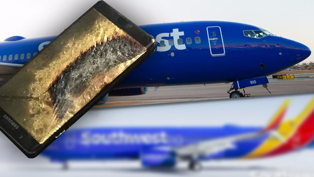 Smartphone geht in Flammen auf: Flugzeug evakuiert (Bild: Brian Green/The Verge, twitter.com)