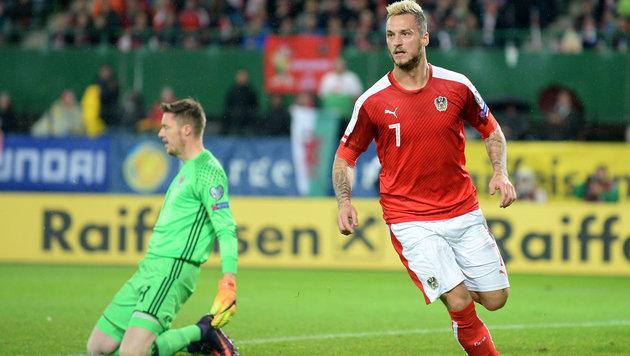 ArnauTORvic rettet ÖFB-Team 2:2 gegen Wales (Bild: APA/ROLAND SCHLAGER)