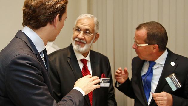 Außenminister Kurz mit seinem libyschen Kollegen Siala und dem UNO-Sondergesandten Kobler (Bild: APA/AUSSENMINISTERIUM/DRAGAN TATIC)