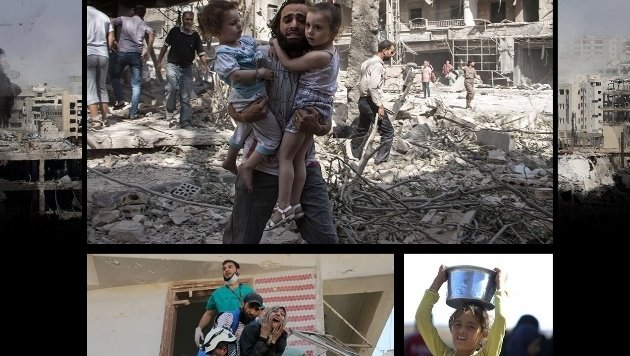 """stern.de zeigt einen Tag lang nur Bilder aus Aleppo und Syrien: """"Wir schweigen heute."""" (Bild: stern.de)"""