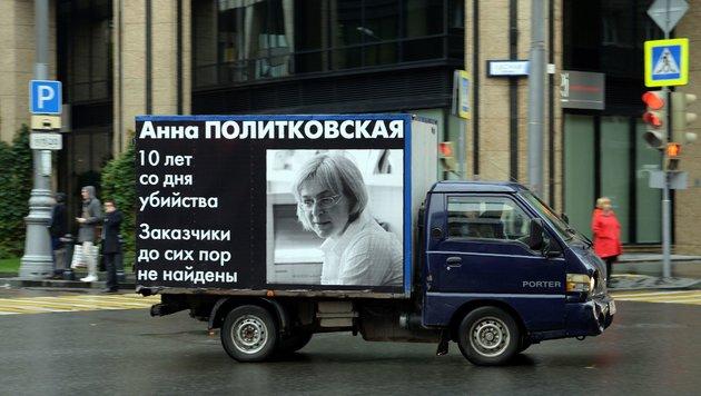 Gedenken an Anna Politkowskaja in Moskau (Bild: APA/AFP/NATALIA KOLESNIKOVA)