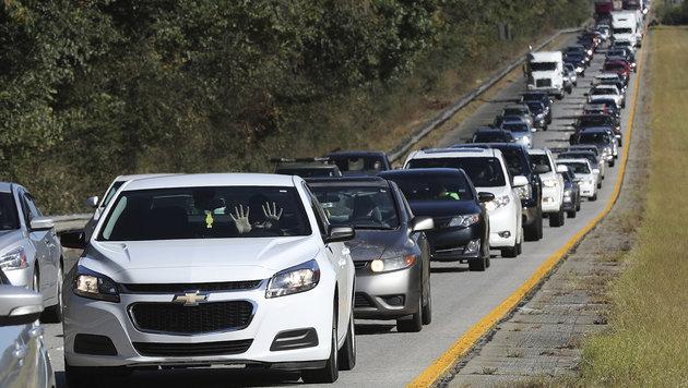 3 Mio. US-Bürger auf der Flucht vor Mega-Hurrikan (Bild: Associated press)