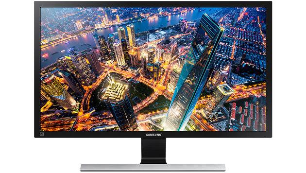 Samsungs 28-Zöller U28E590D liefert für unter 400 Euro 4K-Auflösung, hat allerdings ein TN-Panel. (Bild: Samsung)