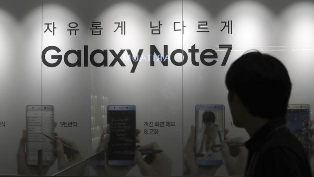 Note-7-Debakel beschert Samsung Gewinneinbruch (Bild: AP)